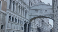 Bridge of Sighs Cast in Shadow - 29,97FPS NTSC Stock Footage