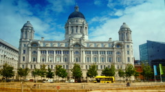 Port Authority Building at Liverpool Pier head. - stock footage