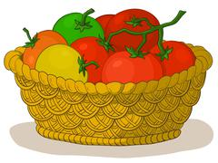 Basket with tomatoes Piirros