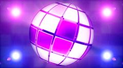 Art Sphere box disco ball 3 Stock Footage