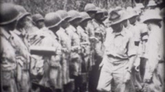 World War - Drill Sergent and Troops - stock footage