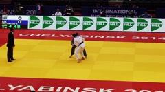 Judo World Championship. Russia. Chelyabninsk. August 27, 2014. Stock Footage