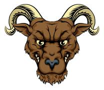ram mascot head - stock illustration