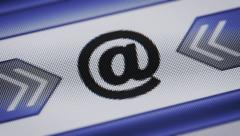 E-mail icon on the screen. Looping. Stock Footage