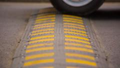 Speed Bump on the Road. HD 1080p. Stock Footage
