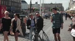 Nyhavn Copenhagen Stock Footage