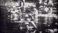 World War 2 - Archival footage of Soldiers in Swamp Stock Footage