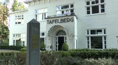 The Tafelberg, German HQ during WW2 in Oosterbeek. Stock Footage