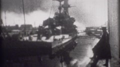 Navy World War 2 - Archival footage of Ships transferred from 8mm film - stock footage