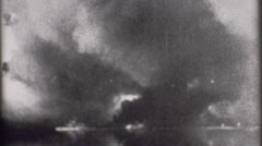 Navy World War 2 - Archival footage of Battleship Cannon - stock footage
