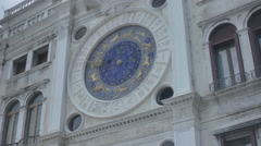St. Mark's Astronomical Clock Venice - 29,97FPS NTSC Stock Footage