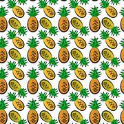 Stock Illustration of pineapple pattern