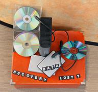 Stock Photo of lost data recovery