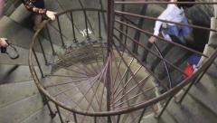 Spiral staircase Stock Footage