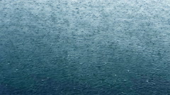 Rain drop on water Stock Footage
