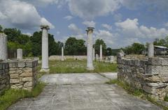 Archaeological complex Abritus in present town Razgrad - stock photo