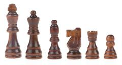 chess figures isolated on white - stock photo