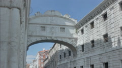 Bridge of Sighs in Sun and Shade - 25FPS PAL Stock Footage