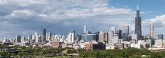 Chicago City Skyline Panorama Kuvituskuvat