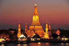 Wat Arun Temple in Bangkok, Thailand - stock photo