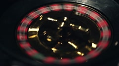 Roulette game close up Stock Footage