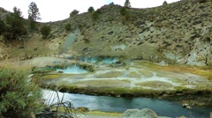 Hot Creek, Mammoth Lakes Hot Spring Stock Footage