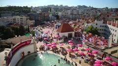 Urban artificial beach Stock Footage