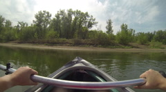 Kayak boating on the river Stock Footage