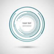 Vector color line twirl design Stock Illustration