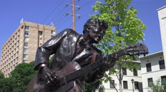 Blue Berry Hill, Chuck Berry statue Stock Footage