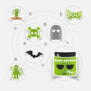 Stock Illustration of Halloween flat infographic