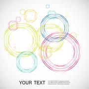 Stock Illustration of Color line. Circle design eps