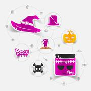 Stock Illustration of Halloween sticker concept