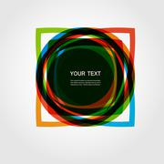 Abstract vector form. Color line design eps10 Stock Illustration
