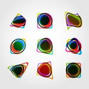 Abstract vector form. Color line design eps10 - stock illustration