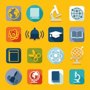 Stock Illustration of Set of education icons