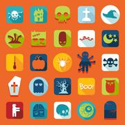 Stock Illustration of Set of halloween icons