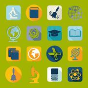 Set of education icons - stock illustration