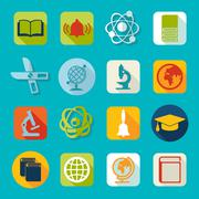 Set of education icons - stock illustration
