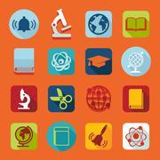 Set of education icons Stock Illustration
