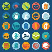 Set of halloween icons - stock illustration