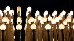4K LACMA Street Lights Stock Footage