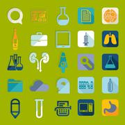 Set of medical flat icons - stock illustration