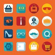 Stock Illustration of Set of fashion icons