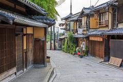 Beautiful old houses in ninen-zaka street, kyoto, japan. Stock Photos