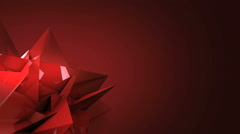 red canvas with crystal transform - stock footage