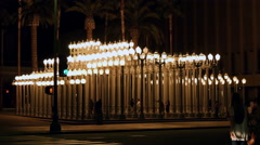 4K LACMA Street Lights Stock Footage