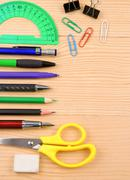 School accessory and copy space Stock Photos