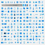 Set of education icons Stock Illustration