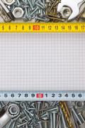 construction hardware - stock photo